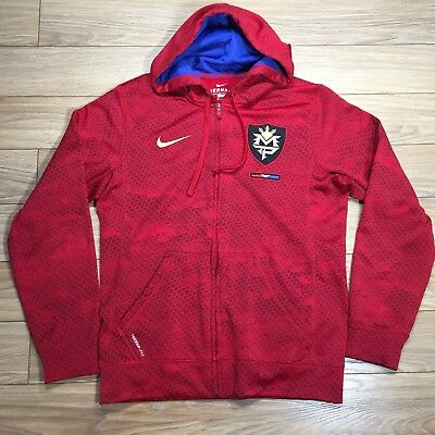 8f2d90b1e1ac Manny Pacquiao Nike Therma Fit Hoodie Full Zip Red Size S Boxing Rare PAC  MAN