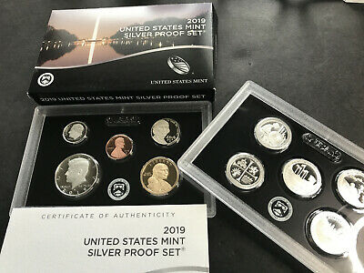 2019-S Proof Silver US Mint 10 Coin Set 19RH -- IN HAND -- Free Shipping!