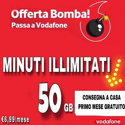 PASSA A VODAFONE SPECIAL 50 Gb + MIN ILLIMITATI SOLO VIRTUALE COUPON