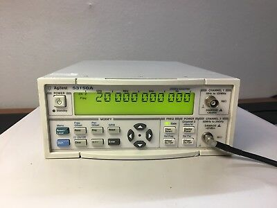 Agilent 53150A opt 001 Microwave Frequency Counter 20 GHz Oven Time Base Cal'd
