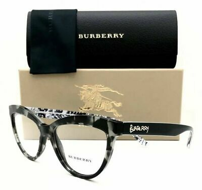 e4bf1c6c16a9 Burberry BE2276 3722 Women s Cat Eye Eyeglasses Grey Havana 2276 51mm NEW
