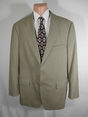Chaps Ralph Lauren Mens Wool Sports Coat Blazer Suit Jacket  Sz  46T Tan Euc