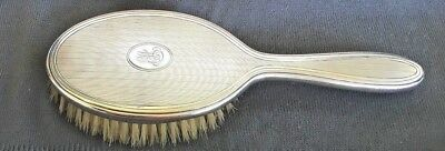 TIffany & Co vintage Sterling Silver Hair Brush 'Engined-Turned' Design