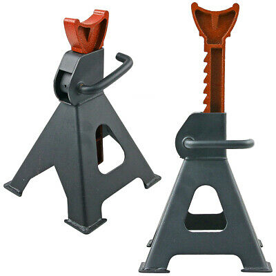 2Pc Car Jack Stand 3T 3000Kg Adjustable Heavy Duty Lift Hoist Steel Ratchet Tool