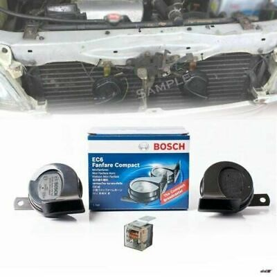 Twin Horn Set Car 12V 400Hz 500Hz Electric Horn Pair BOSCH EC6 Fanfare Compact