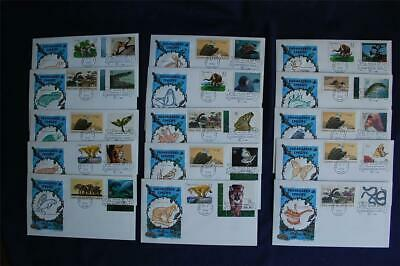 Endangered Species 32c Stamps 15 Combo FDCs House of Farnum Cachets Sc#3105a-l