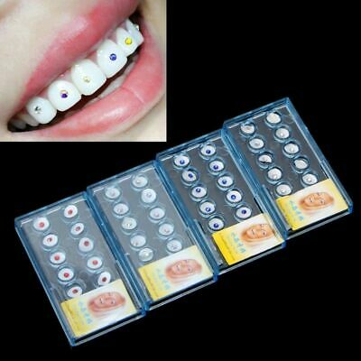 10 Pcs New Dental Oral Teeth Crystal Tooth Jewelry Gem 2.0mm Colorful To Choose