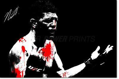 Pre signed Nick Diaz quote photo print poster Don/'t be scared homie