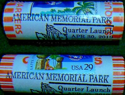 2019 D Stamped Cancelled American Memorial Park Northern Mariana Quarter Roll