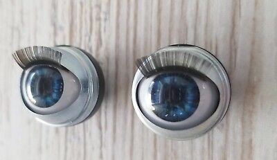 "18mm Doll Eyes - Fit 18"" American Girl Dolls Open/Close With Lashes - Midnight"