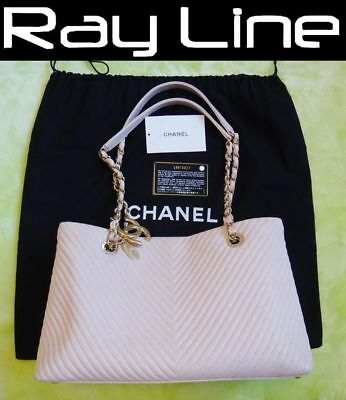 CHANEL Shouder Bag classic Chain  tote Light Pink USED 100% authentic