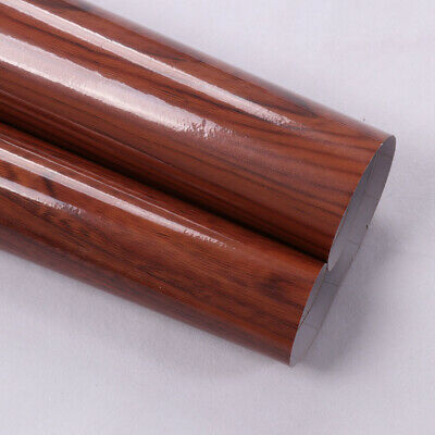 High Glossy Wood Grain Vinyl Wooden Car Internal Sticker Film Furniture Use