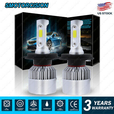 2x 1400W 210000LM2-Side LED Headlight KIT H4 9003 HB2 High/Low Beam 6000K White