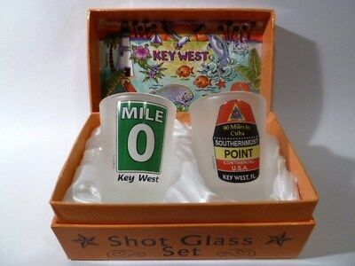 Florida Key West Boxed Shot Glass Set (Set Of 2)