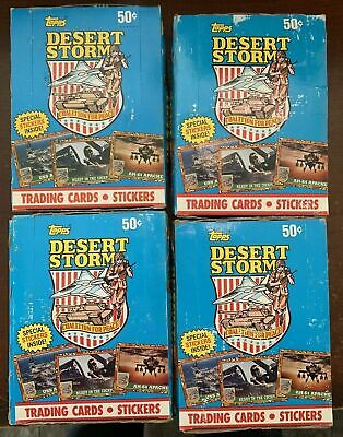 (4 Boxes) PRO SET 1991 Desert Storm Trading Cards Sealed Boxes of 36 Packs