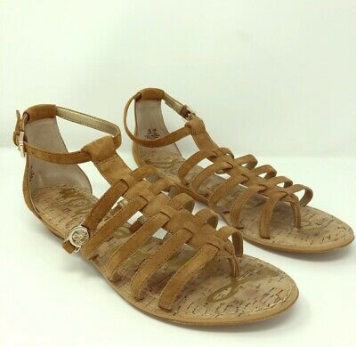 bd49e32fd58 Sam Edelman Women s Size 11M DAKOTA Gladiator Strappy Cage Sandals Brown  Suede