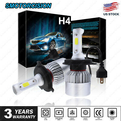 2x COB H4 LED Headlight Kit 9003 1400W 210000LM Hi/Low Beam Bulb 6000K Light US