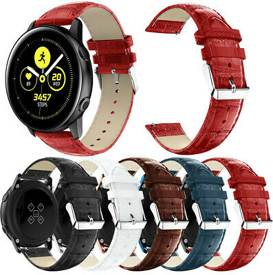 Replacement Leather Watch Band Strap Bracelet For Samsung Galaxy Watch Active