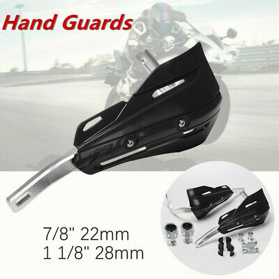 """1 Set 7/8""""1 1/8""""Motorcycle Bikes Hand Guard Prevent Cold Wind Brush Alloy Black"""