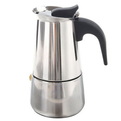 100ML Stainless Steel Coffee Maker Percolator Stove Top Pot B5W8 I7E8
