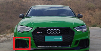New Genuine AUDI RS3 Front Bumper Lower Right Air Vent Grill Black 8V5807682QT94