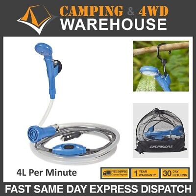 12v Portable Companion Camp Shower PCS12V Hi Volume Caravan RV Outdoors Hiking