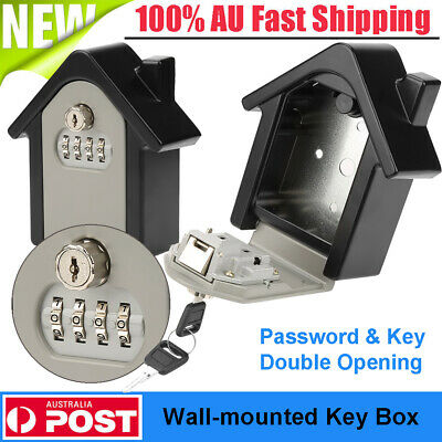 Wall Mounted High Security Storage 4 Digit Password Key Box Combination Key Lock