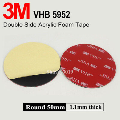 3M Strong Double Sided Foam Pad Sticky Pad Mounting Round Glue Strip 50mm Circle
