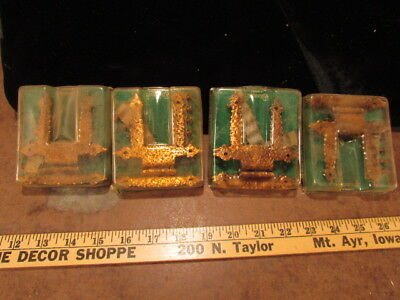 4 NOS PAIRS VINTAGE AMEROCK HARDWARE Hinges Copper A-1622 cabinet Wrought steel