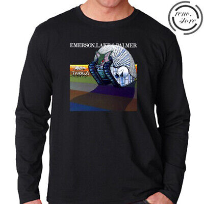 Emerson Lake and Palmer Tarkus Men's Long Sleeve Black T-Shirt Size S to 3XL