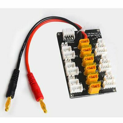 HotRc XT30 1S-3S Plug Parallel Charging Board For B6 Charger for RC Battery TY