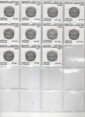Belgium 10 Francs 1969-1979 (Fra). Very Rare Collection!