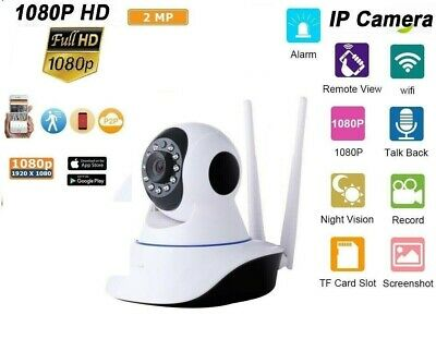 Telecamera Ip Cam Hd 1080P Camera Wireless Led 2 Antenne 2Mp Megapixel Sir