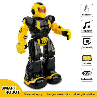 Kids Fun Toys Remote Control Robot Gesture Sensor Smart Action Robots USB charge