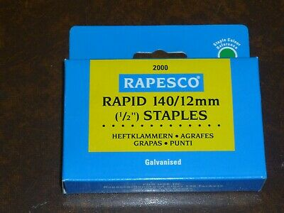 Rapesco 140 Staples 12Mm 14Mm 6Mm 8Mm 10Mm Galvanised