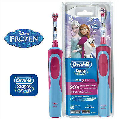 Oral-B Vitality Stages Power Electric Rechargeable Toothbrush Frozen For Kids 3+