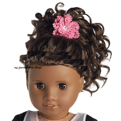 """American girl Gabriela showtime pink pony holder for 18"""" doll hair NEW tenney"""