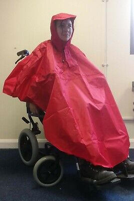 Children's Wheelchair Poncho - Red - Waterproof Wheelchair Clothing