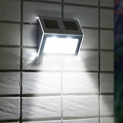 Super Bright Solar Powered Door Fence Wall Lights Led Outdoor Garden Lighting Ks