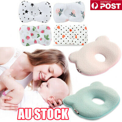 Baby Infant Cot Pillow Preventing Flat Head Neck Syndrome for newborn Girl Boy E