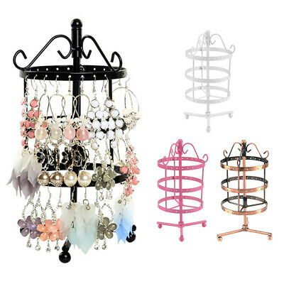 72 Holes Earrings Necklaces Jewelry Display Rack Metal Stand Holder Storage UK