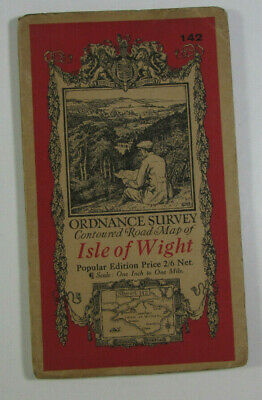 1932 Old OS Ordnance Survey Popular Edition One-Inch Map 142 Isle of Wight