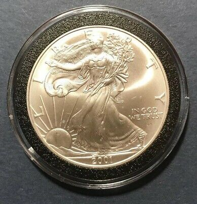 2001 American Eagle 1 Oz .999 Fine Silver U.s. Coin Exact Shown
