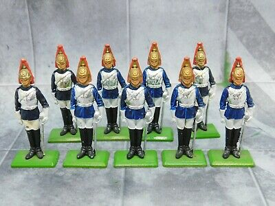 HOUSEHOLD CAVALRY (on foot) THE BLUES x9 from 1973 Britains 61679