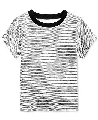 First Impressions Cotton Striped T-Shirt, Baby Boys (12 months)