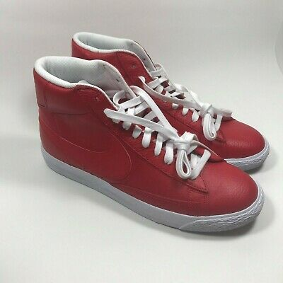 sports shoes 64ff0 8311b Nike Blazer Mid PRM Casual Mens Size 10 Shoes Game Red Leather 429988-604