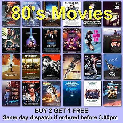 Classic Movie Posters 1980s 80s Film Poster Movies Films HD Borderless Printing