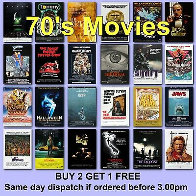 Classic Movie Posters 1970s 70s Film Poster Movies Films HD Borderless Printing