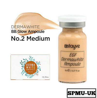 Stayve BB Glow Dermawhite Ampoule Brightening Foundation MTS No2 Medium Single