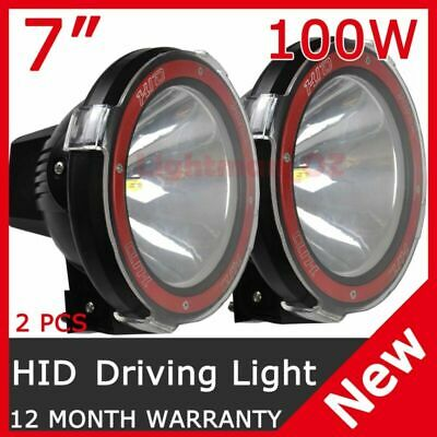 PAIR 100W 7INCH HID XENON DRIVING LIGHT OFFROAD Replace Spot LightS AU STOCK